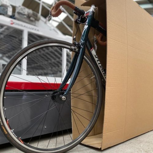 S Lester Packing Cardboard Bike Boxes
